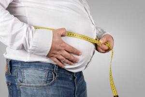 tjock mage man