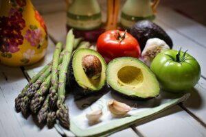 Grönsaker, frukt, avokado