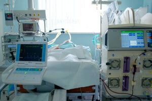 Patient inlagd på intensiven